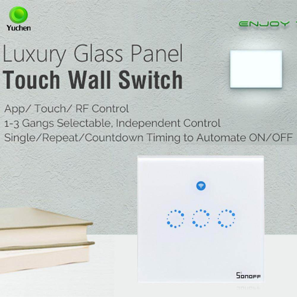 Yuchen [UK Plug] Sonoff T1 3 Gang Smart WiFi Wall Light Switch RF/APP/Touch Control Timer UK Panel Home Automation Support for Google Home/Nest & Amazon Alexa