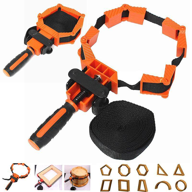 Woodworker Photo Frame with Strap Clamp Holder Miter Vise Ratchet Angle Clamp Band Tool