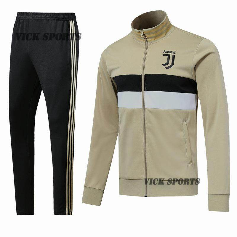 quality design edebd 319a7 18/19 Khaki Juventus Football Jersey Jacket Long Sleeve T-Shirt Training  Wear Sportswear And Pants Suit Running Suit Leisure Sport Training Suit ...