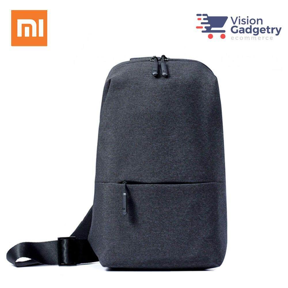 XIAOMI Mi Multifunctional Urban Leisure Chest Pack Sling Bag Dark Grey 9cae9686e2034