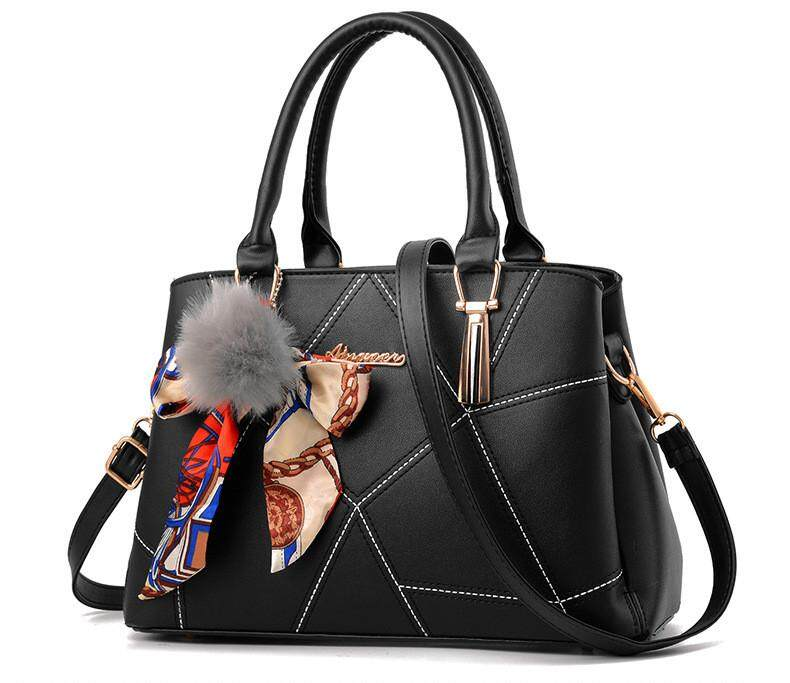 Malaysia Korea Fashion Women Wall Design Elegant Handbag Office Lady Marble With Detachable Strap