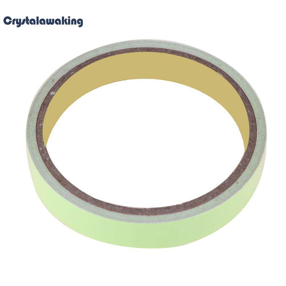 5m Self-Adhesive Luminous Warning Tape Night Vision Glow Safety Tape(fluorescent Green)-12mm By Crystalawaking.
