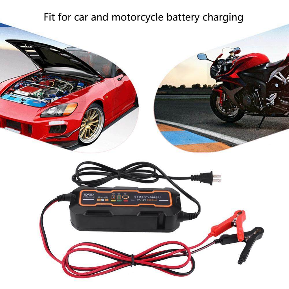 New Type 6v/12v 3a Automatic Smart Battery Charger For Car Vehicle Truck Motorcycle Boat Agm Gel By Qilu.