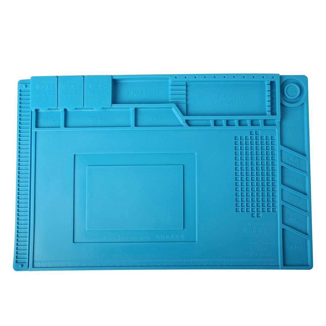 Heat-Resistant Soldering Station Iron Phone PC Computer Repair Mat Magnetic Heat Gun Insulation Silicone Pad Desk Platform