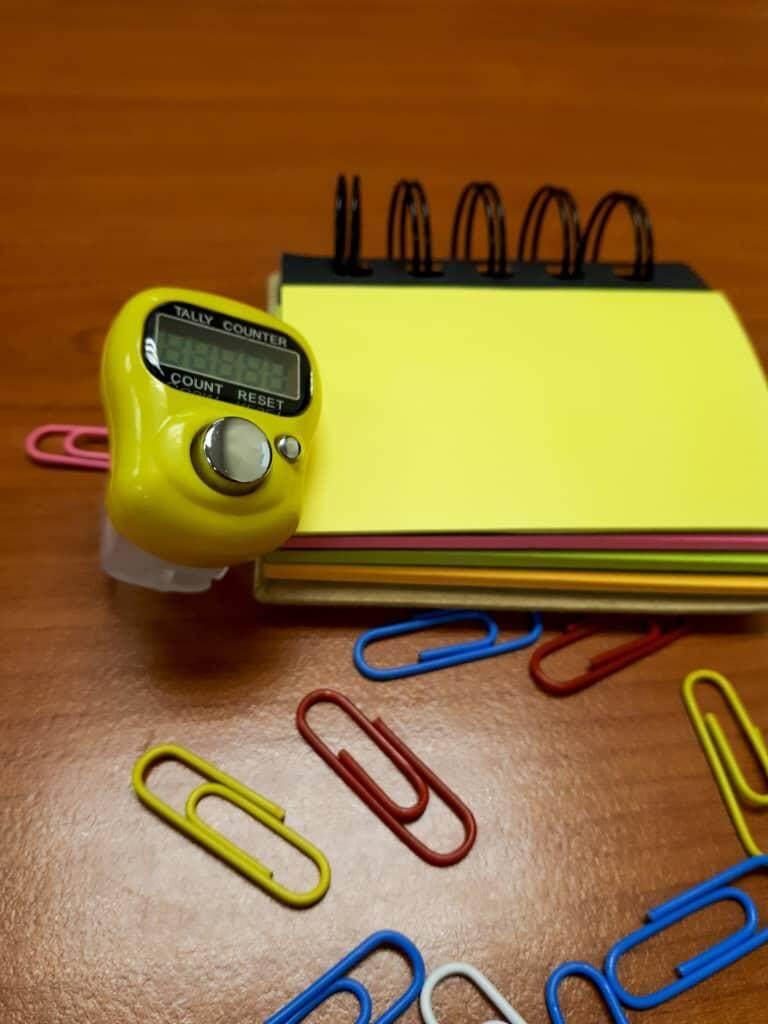 3pcs Tasbih Digital (Yellow) - Tasbih Digital/Tally Counter/Tasbih Jari
