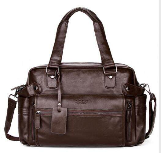 Best Selling  VICUNA POLO Large Capacity Men Leather Travel Bag Casual  High Quality With fac009b574