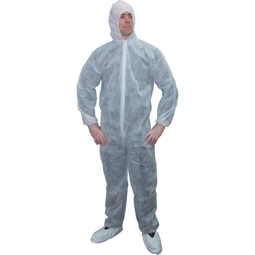 2XL SIZE DISPOSABLE COVERALL WHITE