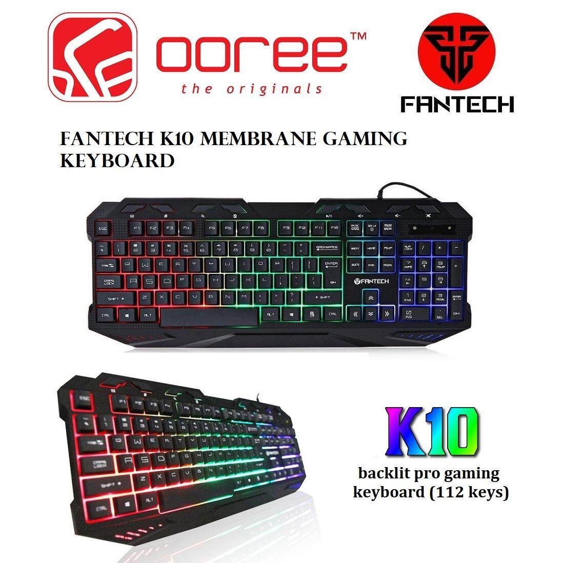 GENUINE FANTECH K10 BACKLIT PRO MEMBRANE GAMING KEYBOARD (120 KEYS) Malaysia