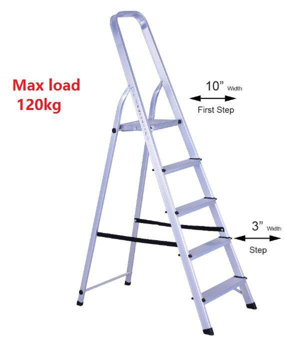 SUMO KING 6 Steps AF03-6 Household Foldable Aluminium Ladder Tangga (Silver)