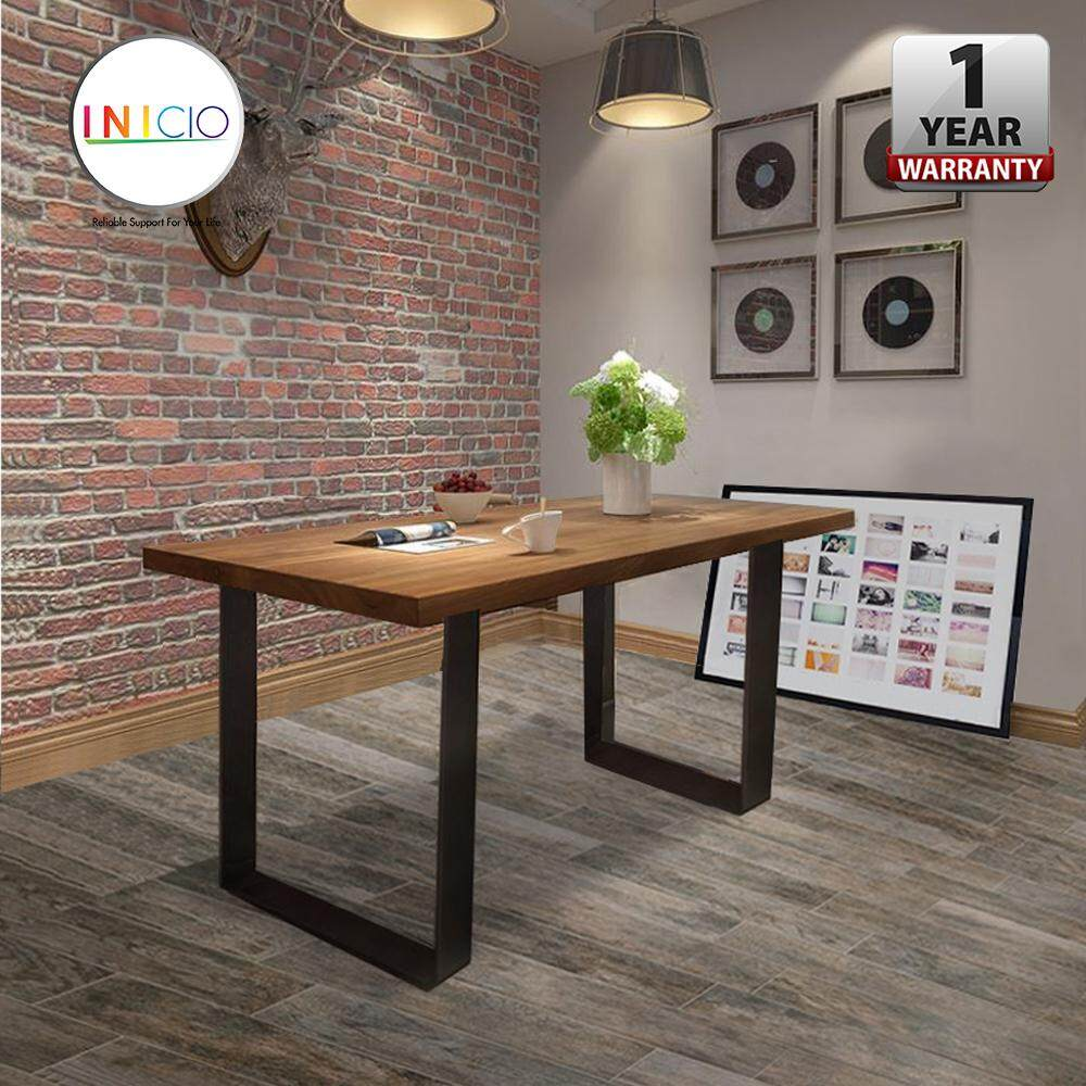 INICIO 120 X 60 Cm Nazis 25 Thick Solid Rubber Wood Dining