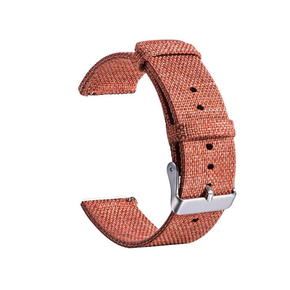 18MM Universal Buckle Nylon Canvas Watch Band Wrist Straps Malaysia