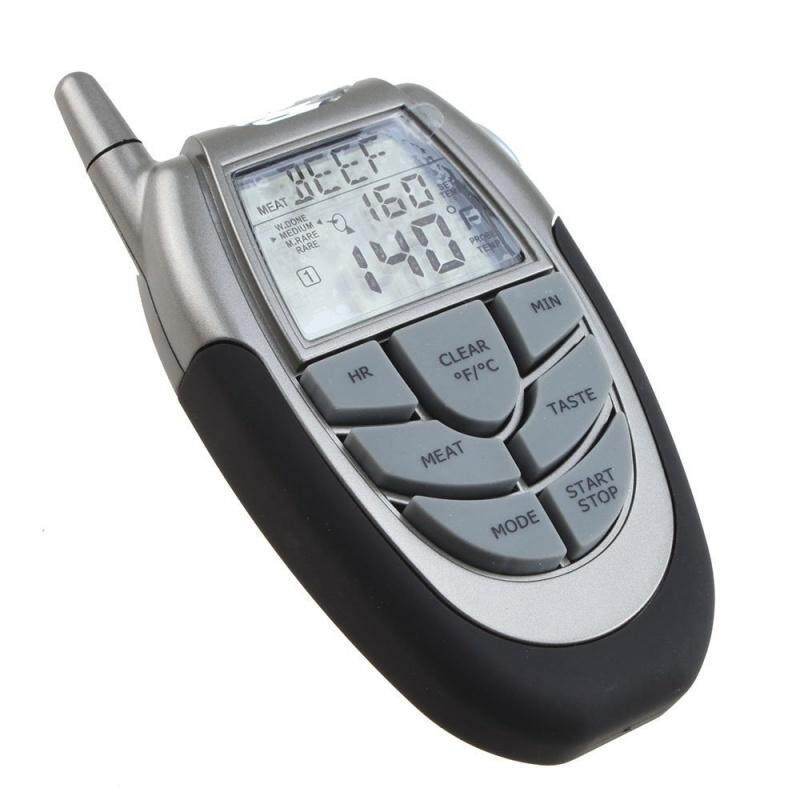 Wireless Digital BBQ Thermometer Tester with Probe Thermometer and Remote