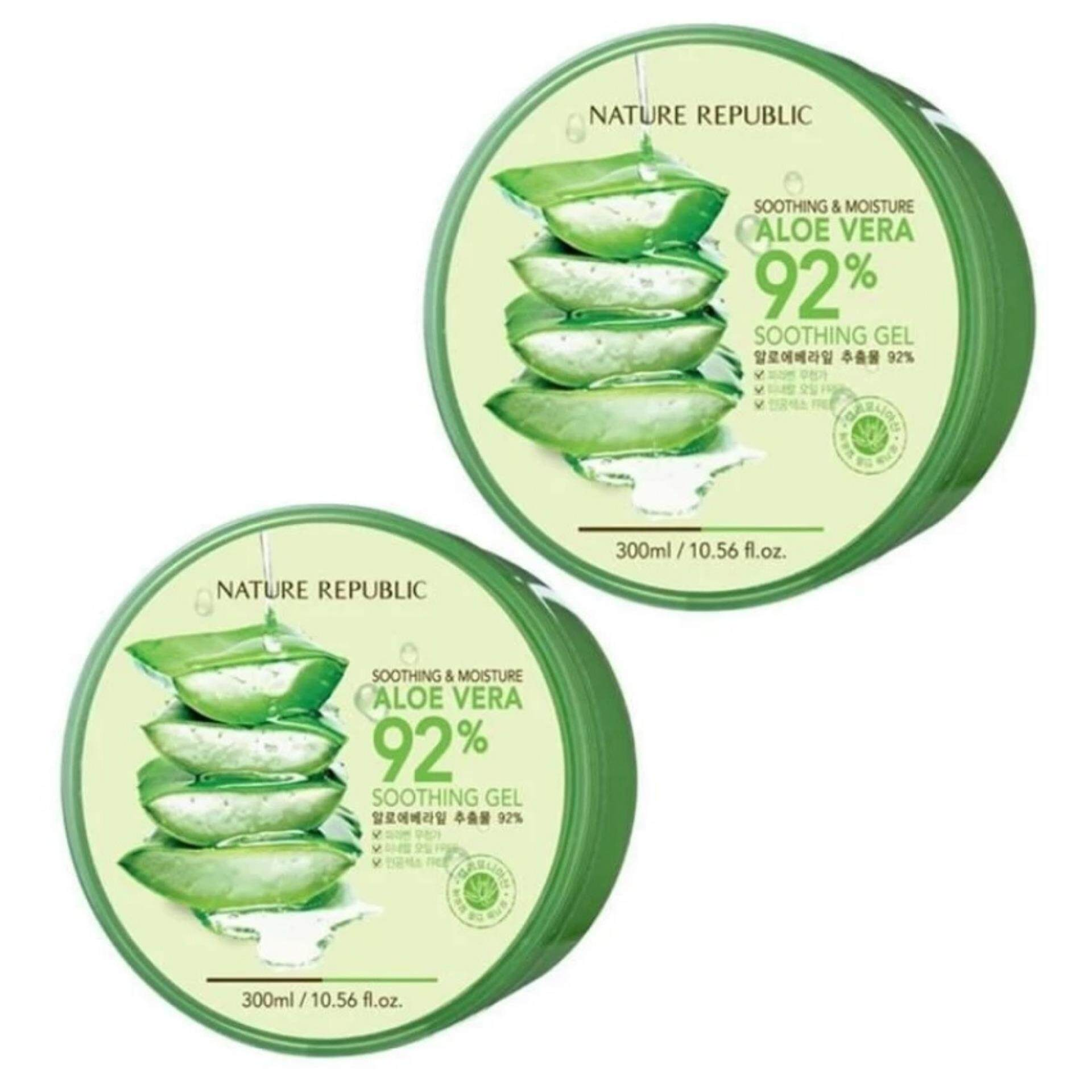 Buy Sell Cheapest Nature Republic Soothing Best Quality Product Ature Aloe Vera 92 Gel 300ml 0377 X2pcs
