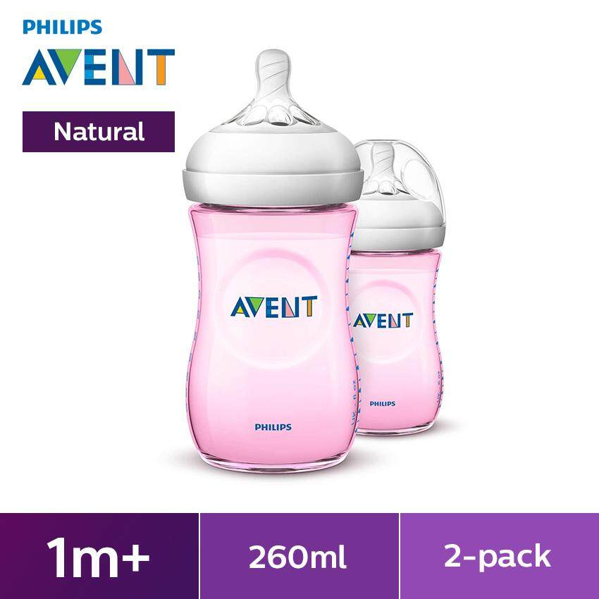 Philips Avent Natural Baby Bottle (pink) Scf694/23 By Philips Avent.