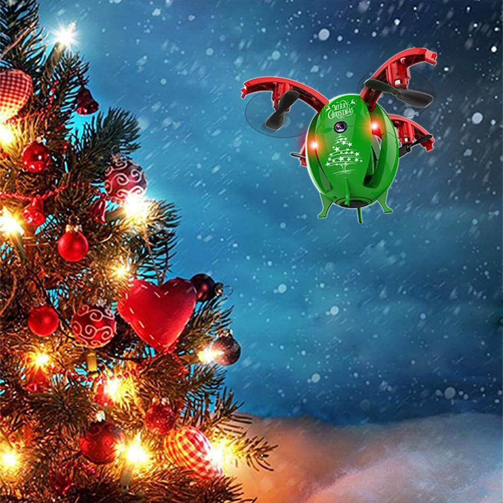 Bpfair 2.4g Foldable Christmas Egg Drone 0.3mp Camera Wifi Fpv Rc Quadcopter Hd Selfie Free Shipping By Bpfair.