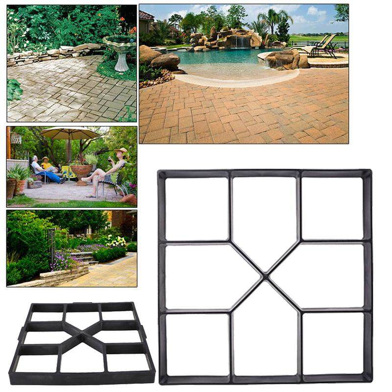 Diy Paving Stepping Stone Pavement Concrete Driveway Path Mold Patio Maker Mould 40cm By H&c Ebiz.