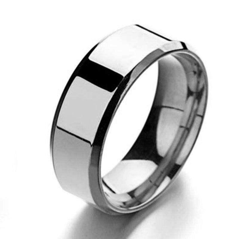 Simple stainless steel ring for men and women