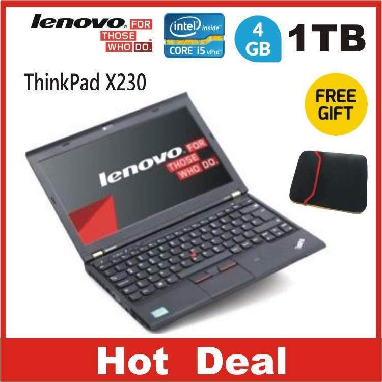 LENOVO THINKPAD X230 CORE i5 V-PRO 4GB ,1 TB HDD (Refurbished) Malaysia