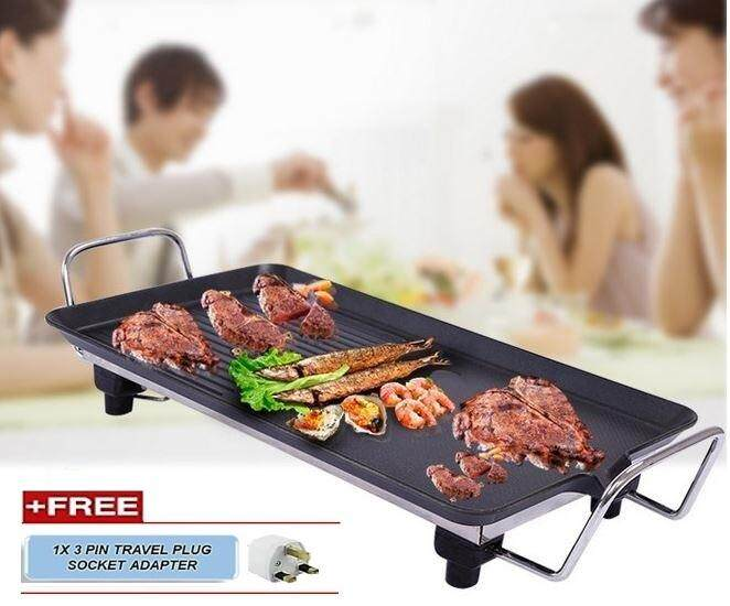 Korean Style Multi Function Electronic Grill Non-Stick Barbecue Frying Pan By Toys & Tots.