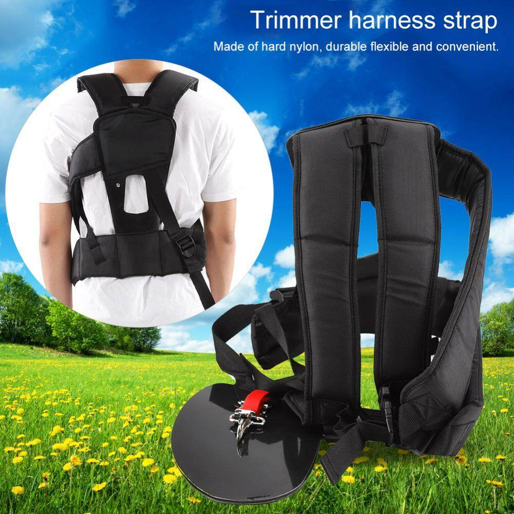 Universal Trimmer Double Shoulder Strap Mower Nylon M-shaped Belt for Brush Cutter Garden