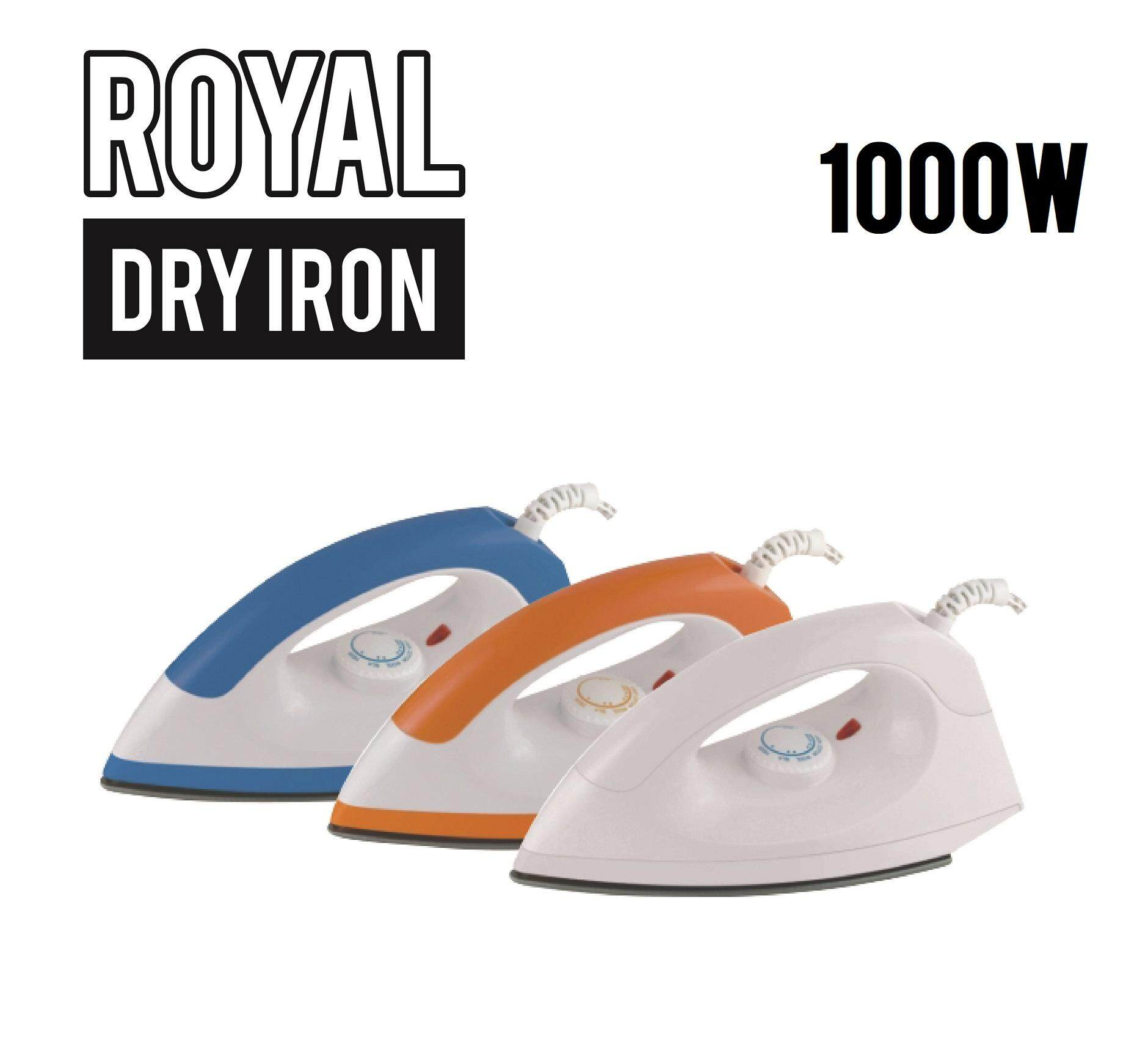 Promo ! Royal Dry Iron 1.5 Meter 1000 W / 230 V 50hz Swivel Cord Ypf2003a By E-Z Shop.