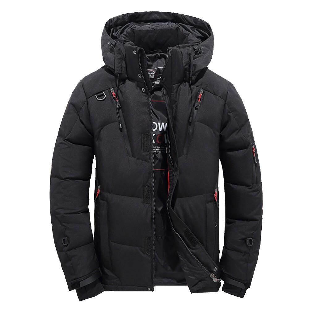 872bc2c3ac44f JENESTROTRES Men Boys Casual Warm Hooded Winter Zipper Coat Outwear Jacket  Top Blouse