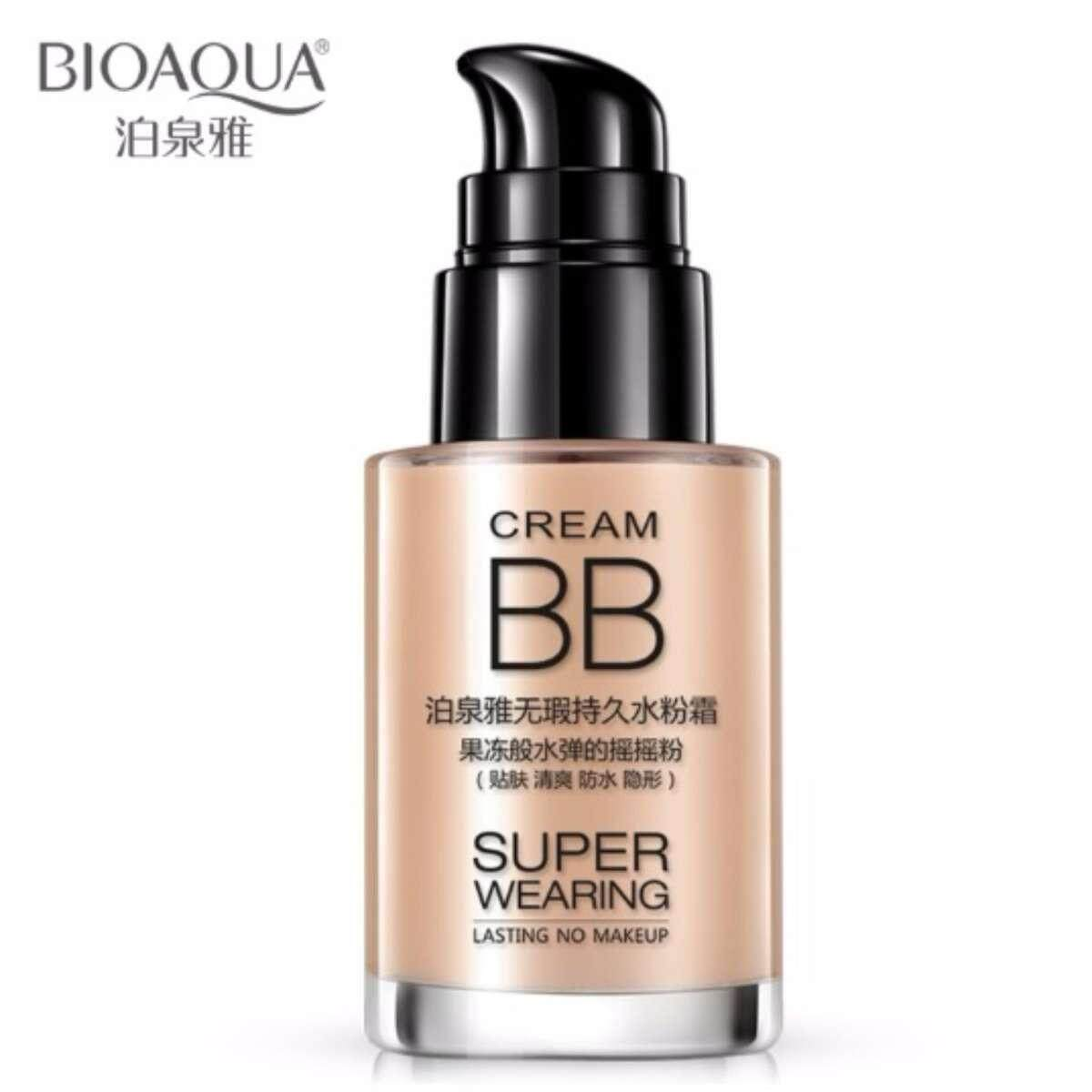 Bioaqua Persistent Bb Cream Foundation Whitening And Moisturizing Concealer Invisible Pores Easy On Makeup - Natural By Fly Automart.