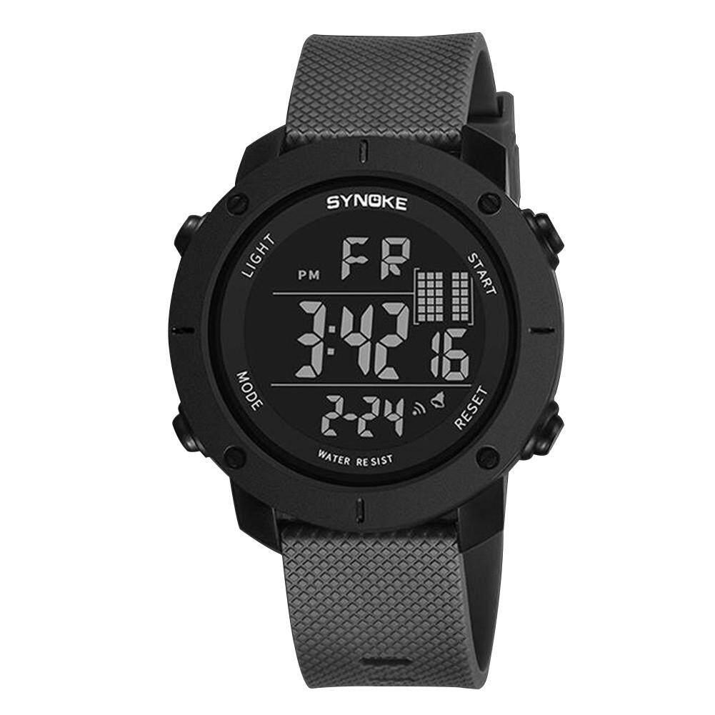 BODHI Fashion Mens Luminous Outdoor Sports Digital Wrist Watch Clock 50M Waterproof (Grey) Malaysia
