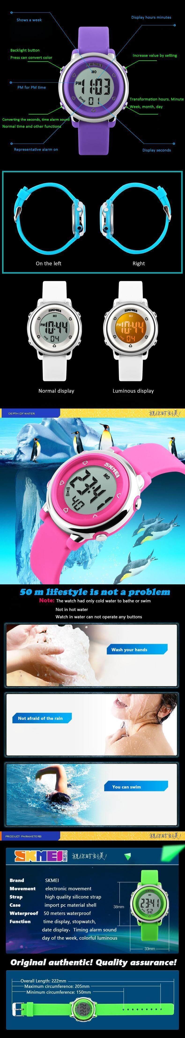 Watches Children Watch Led Digital Sports Relojes Mujer Boys Girls Fashion Kids Cartoon Jelly Waterproof Relogio Feminino Skmei 2018 Excellent Quality