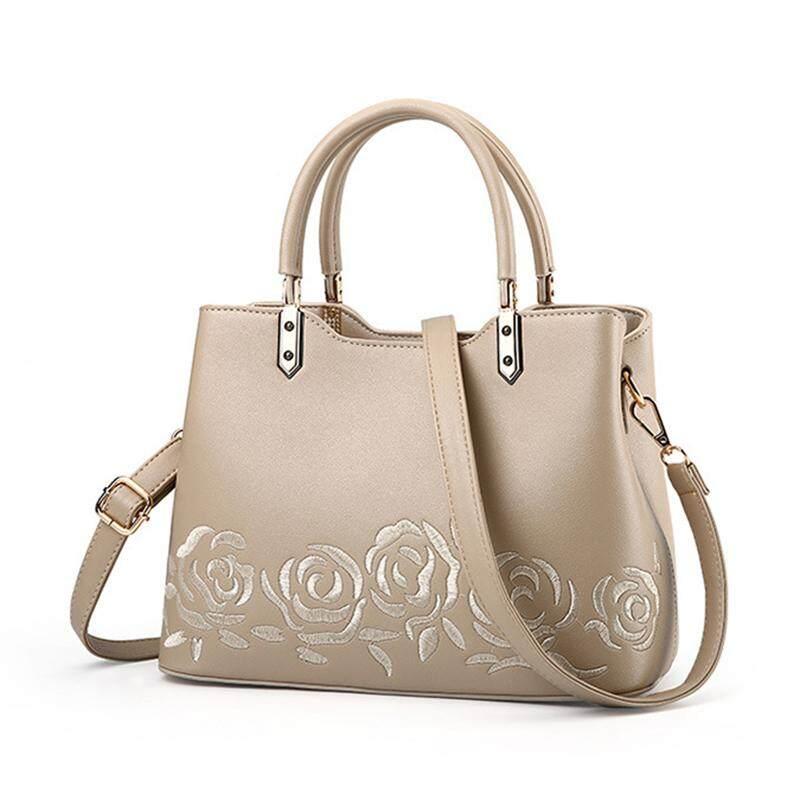 Women Leather Handbag Women Luxury Messenger Bag Female Leather Shoulder Bag  Women s Holiday gift Embroidery Flower 347533115