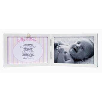 Bandingkan New My Mimi White Double Hinged Tabletop Photo Frame 4x6