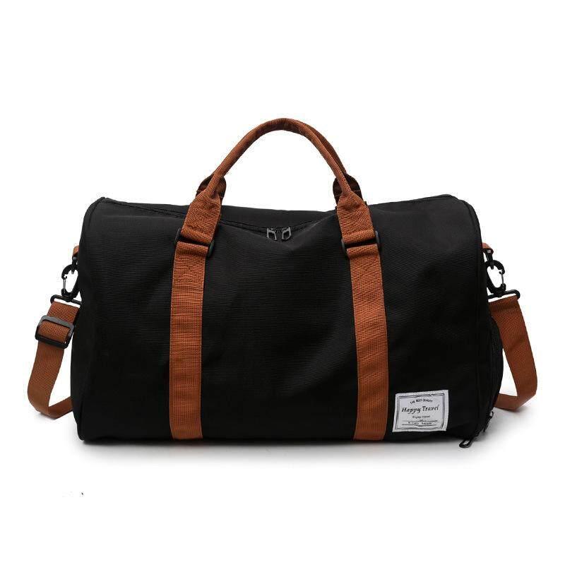 bd3f97cb3a6c New fashion luggage bag men s fitness bag leisure sports travel bag handbag  - black