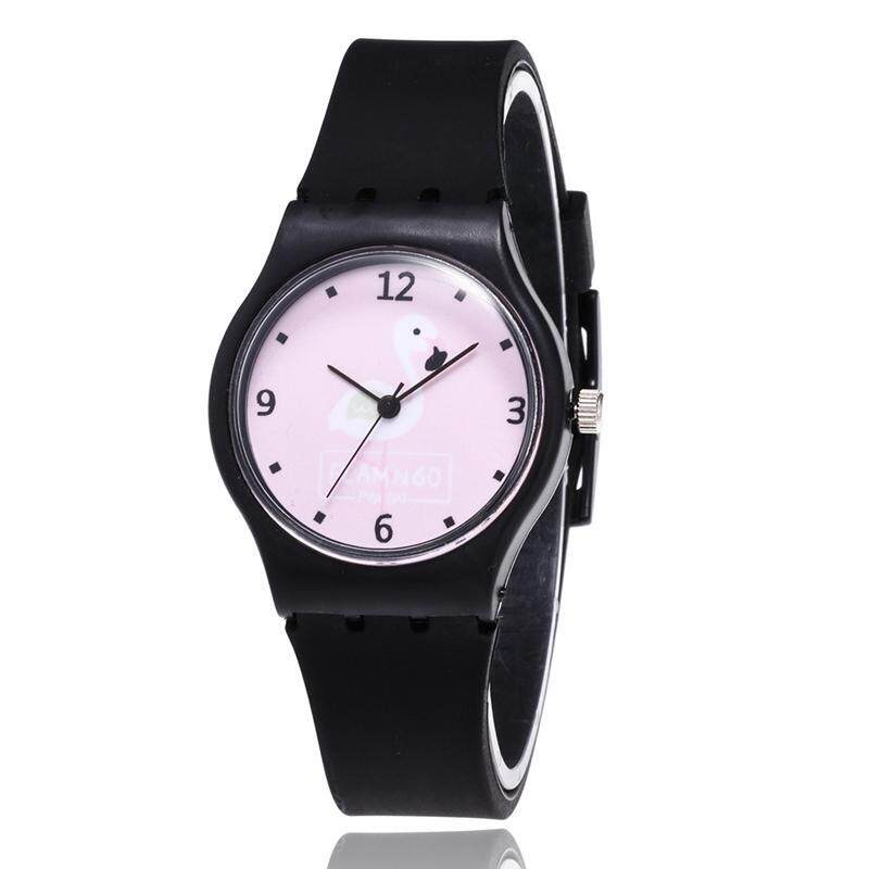 Linfang Children Fashion Cute Flamingo Printing Boutique Casual Candy Colors Watch Malaysia