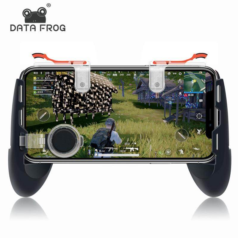 Data Frog Pubg Game Gamepad For Mobile Phone Game Controller Shooter Trigger Fire Button For IPhone