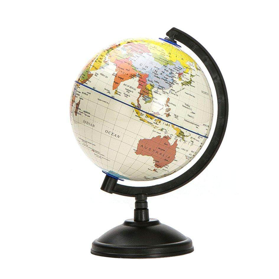 20cm Blue Ocean World Globe Map With Swivel Stand Geography Educational By Ohbuybuybuy.