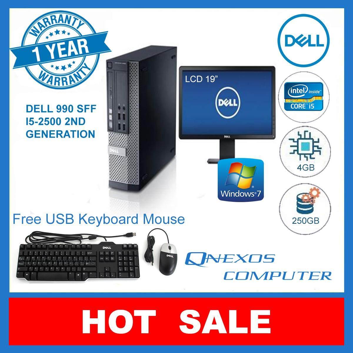 Factory Refurbished Dell Optiplex 990 Sff Intel Core I5 310 Ghz Keyboard Mouse Usb 4gb Ddr3 Ram 500 Gb Hdd Dvd Rom Window 7 19 Inch Widescreen Lcd Monitor Free Gaming Lazada