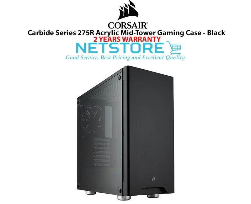 Corsair Carbide Series 275R Acrylic Mid Tower Gaming PC Desktop Case Black CC-9011130-WW Malaysia