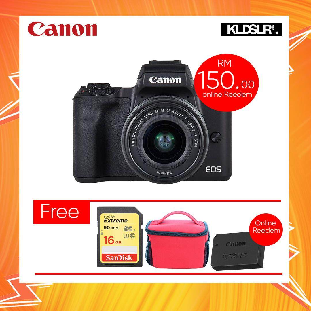 Canon Mirrorless Cameras For The Best Prices In Malaysia Eos M10 Kit 15 45 22mm M50 With 45mm Lens Black