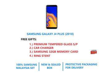 FREE GIFTS] Samsung Galaxy J4 Plus (DUAL SIM / 2GB RAM / 32GB ROM