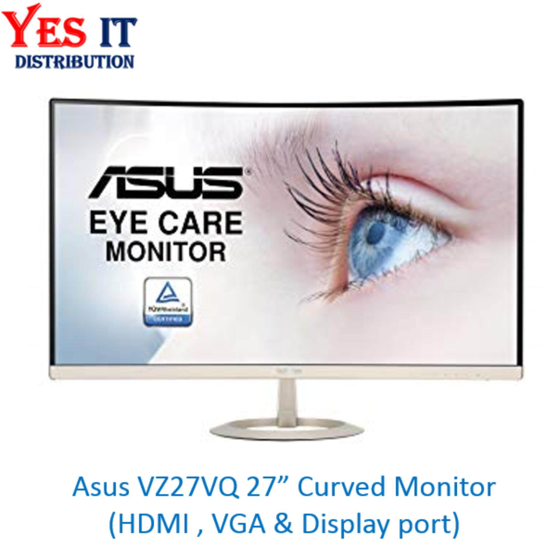 Asus Computer Accessories Monitors Price In Malaysia Best Monitor Vc279h Eye Care Frameless 27 Full Hd Ips Speaker Tuv Vz27vq Curved Led 1080p Dphdmivga