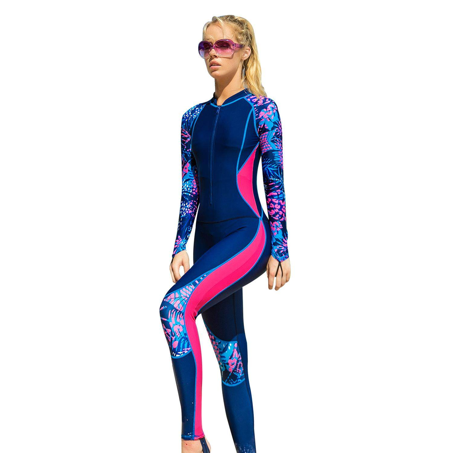 c8fbfec6a0 Sbart Womens One Piece Full Body UV Protection Rash Guard Snorkeling  Jumpsuit Diving Wet Suit Quick