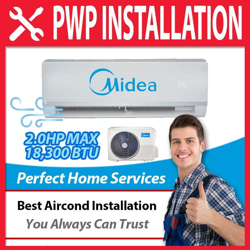 Midea New 2.0HP Ionizer 18,300 BTU Non Inverter (MSAE-19CRN1) 2HP Aircond, Express Direct Shipping Within Klang Valley