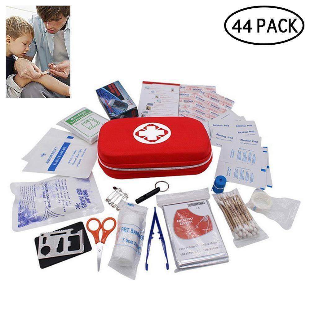 GoodGreat 44 Pcs First Aid Kit Survival Kit, Emergency Survival Kit  Waterproof Outdoor Medical Emergency Bag for Home, Office, School, Car,  Boat,