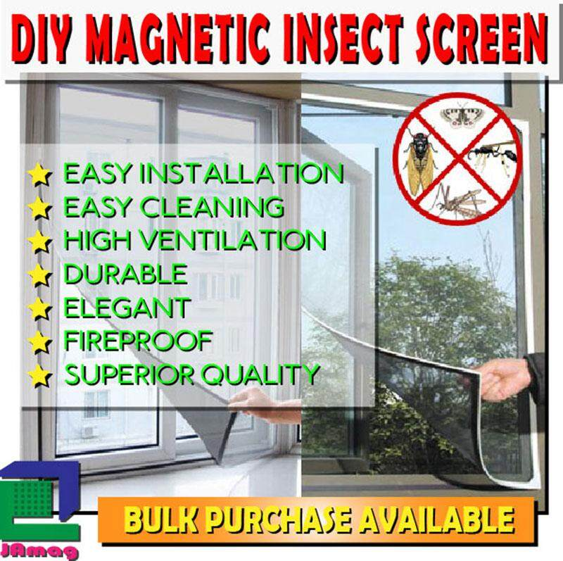 DIY Magnetic Mosquito Screen 1ft x 6ft complete set eco friendly