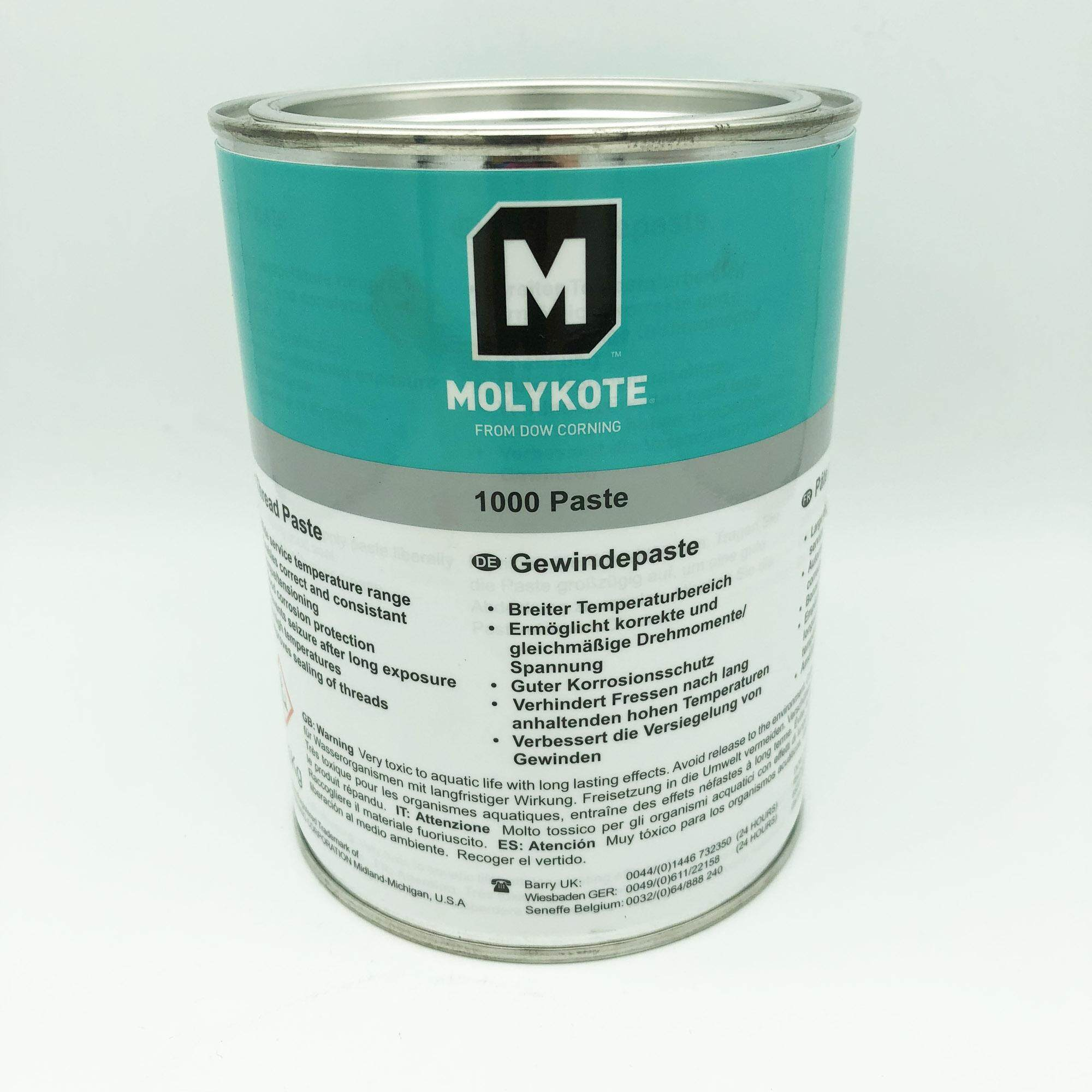Molykote 1000 Anti Seize Paste Dow Corning 1KG