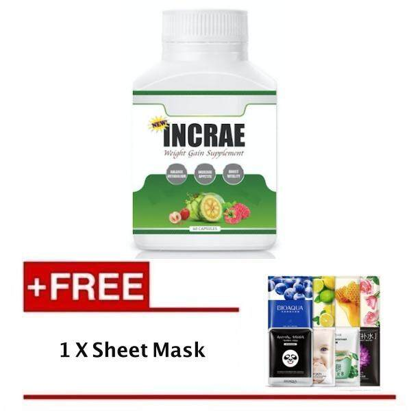 Incrae Weight Gainer (latest Packaging) + Free Sheet Mask By Asco Ltd.
