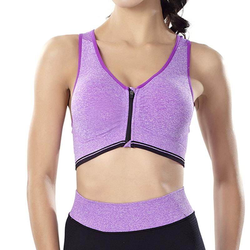 Comebuy Sports Zipper Bra Sports Fitness Yoga Running Dance Body No Steel Ring Sports Underwear By Comebuy88.