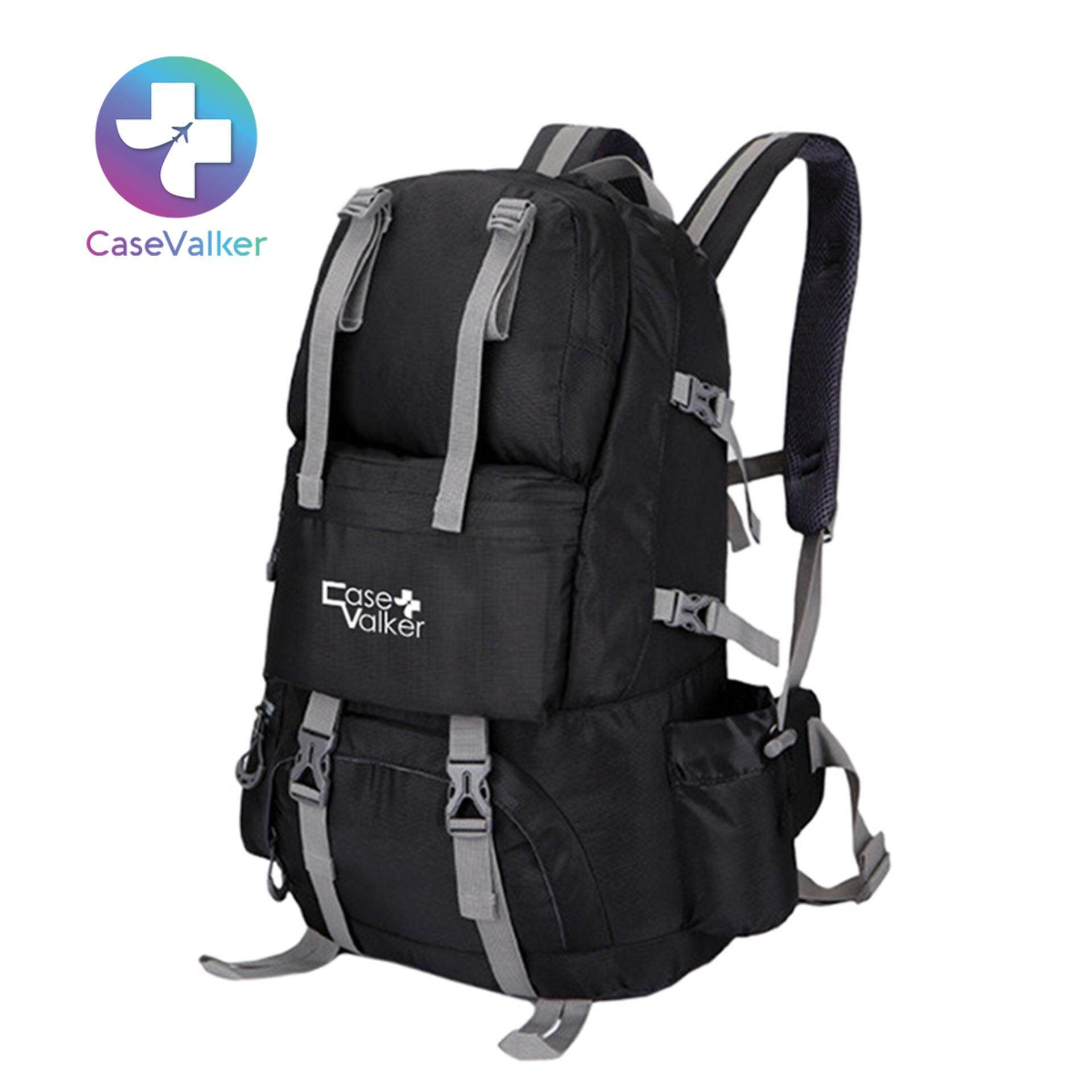 Case Valker Outdoor Hiking Climbing and Travel Nylon Backpack Bag 50L  (Black) dd6092f3c8328