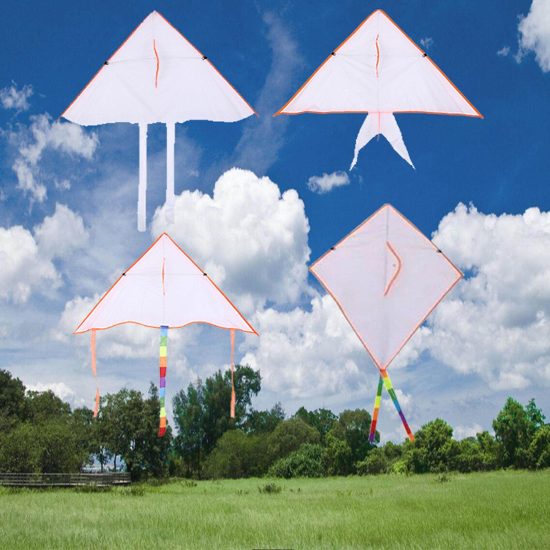 Outdoor Kite Diy Kite Painting Kite Without Handle Line Outdoor Flying Papalote 60x6x5 By Gorgeous Road.