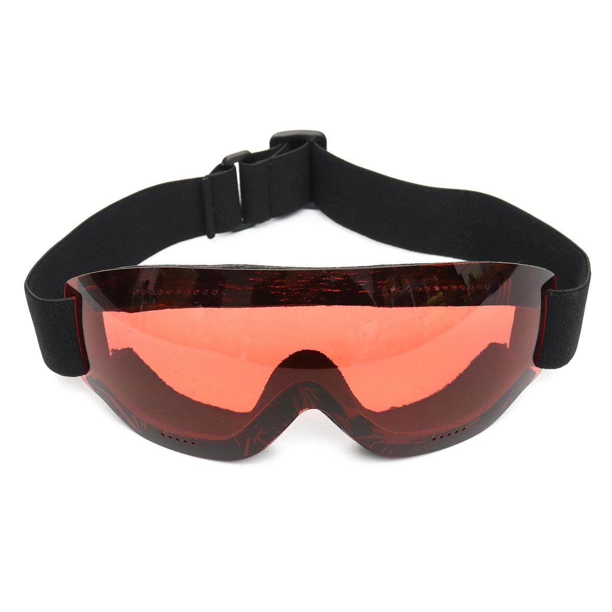 Frameless Anti-fog UV Protection Ski Glasses Skiing Goggles Snowboard Unisex Pink
